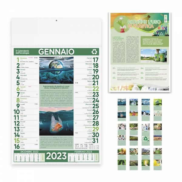 CALENDARIO DELL'ECOLOGIA Illustrato mensile 12 fogli Cod. Art. PA091