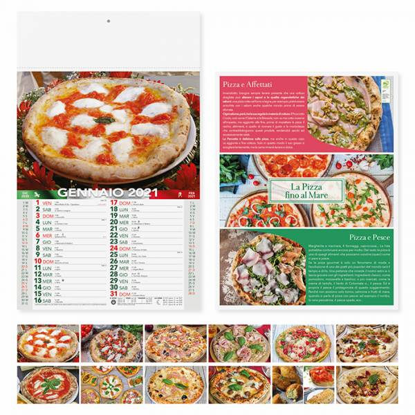 Calendari PIZZA - art. PA136 - Calendari illustrati