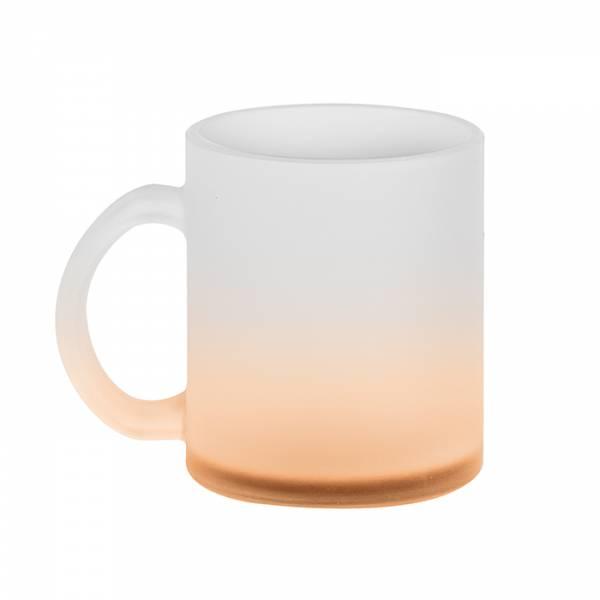 ICE COLOR MUG Tazza vetro effetto ghiaccio fondo colorato Cod. Art. PC375