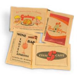 Bustine di zucchero di canna stampa ad 1 colore in cartone da 5 kg.