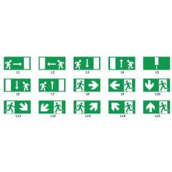 Pittogrammi di sicurezza 29,7x15 cm.