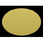 Etichetta ovale in ottone 5x3,5 cm. neutra