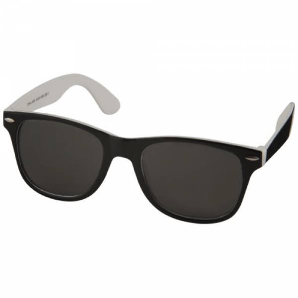 Occhiali da sole Sun Ray neri con colori pop