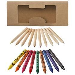 Set di matite e pastelli a cera da 19 pezzi