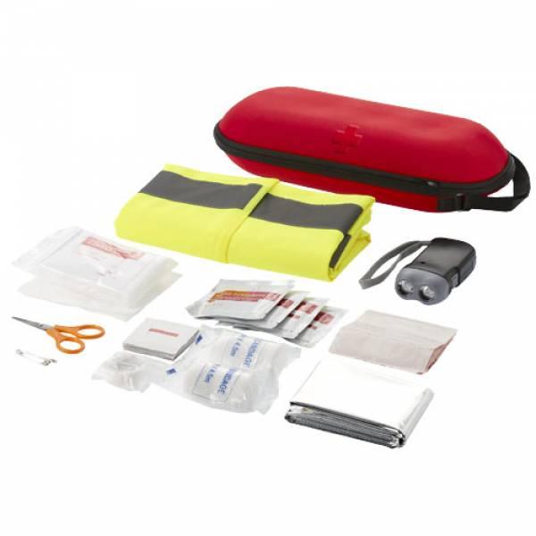 Kit primo soccorso 46 pezzi e gilet di sicurezza professionale - Accessori viaggio