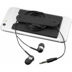 Earbuds Silic Phone Wallet-BK