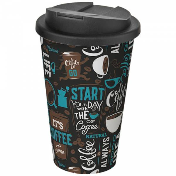Brite-Americano® 350 ml tumbler with spill-proof lid