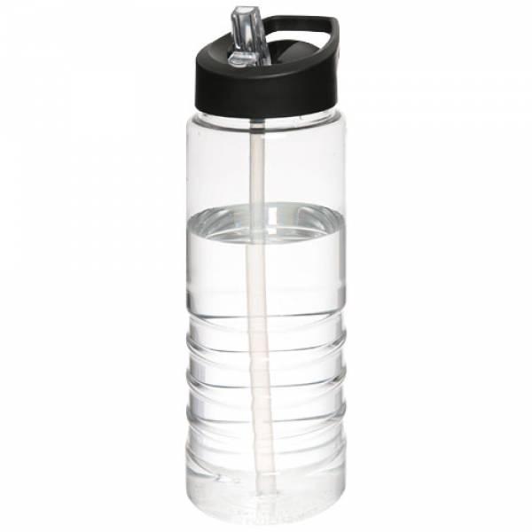 Borraccia sportiva H2O Treble da 750 ml con coperchio con beccuccio