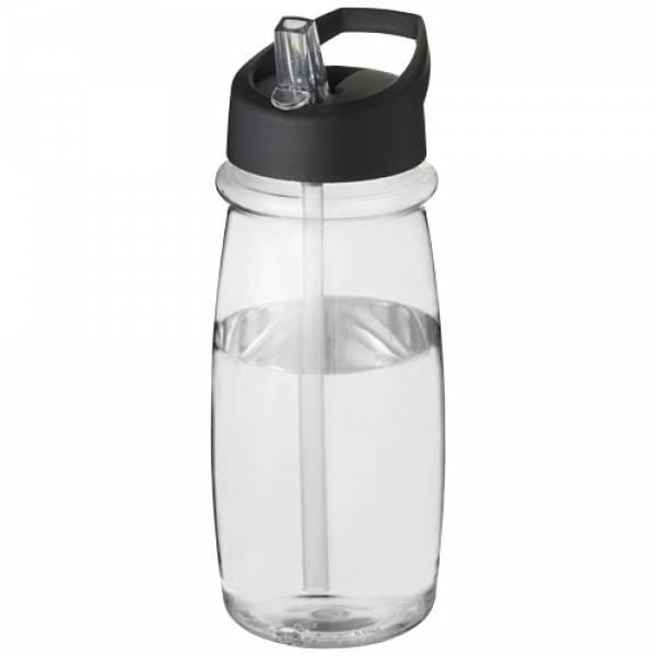 Borraccia sportiva H2O Pulse da 600 ml con coperchio con beccuccio