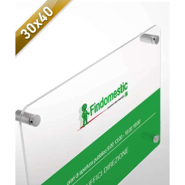 Targa in Plexiglass f.to 30x40 cm. stampata a colori - Targhe in Plexiglass 30x40 cm.
