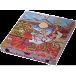 Cartoni pizza personalizzati 32x32x3,5 cm.